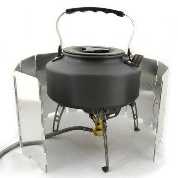 High Quality 9Plate Mini Outdoor Camping Cooking Stove Equipment Alloy Foldable Wind Screen