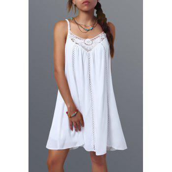Lace Spliced Spaghetti Strap Dress