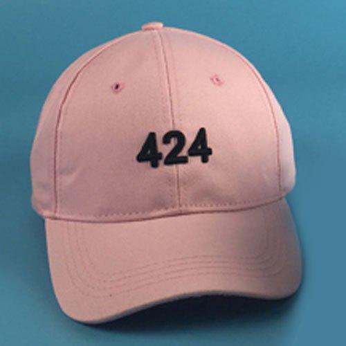 Chic Numbers Embroidery Women's Baseball Cap - PINK