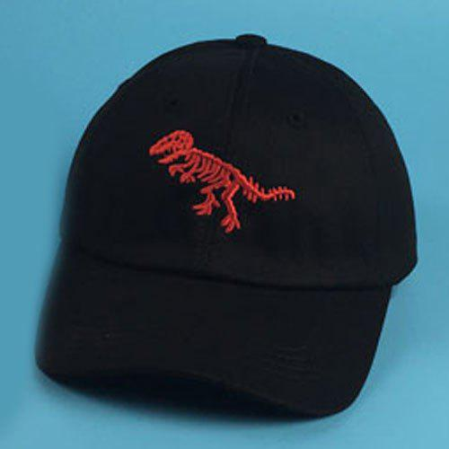 Chic Dinosaur Skeleton Embroidery Women's Baseball Cap