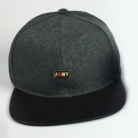 Stylish Letter Small Labelling Embellished Men's Baseball Cap - BLACKISH GREEN
