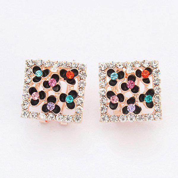Pair of Chic Style Rhinestone Clover Earrings For Women от Dresslily.com INT