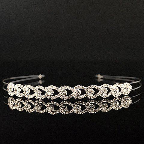 Sweet Multilayered Rhinestoned Water Drop Hairband For Women - WHITE