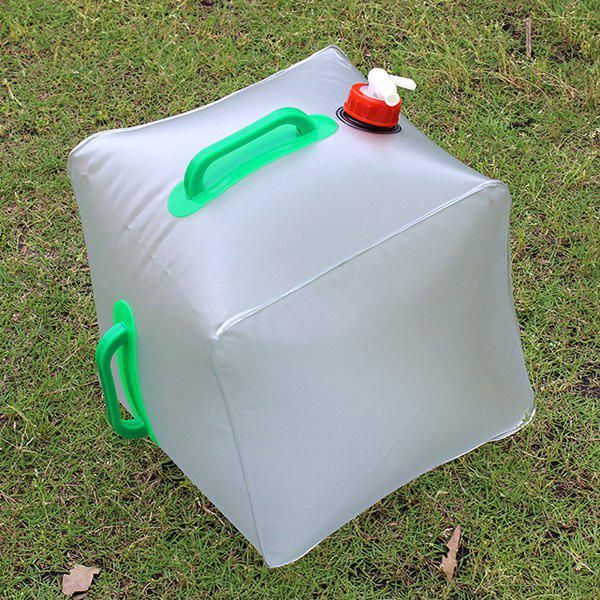 20L de haute qualité Portable Outdoor Survival Camping Supplies Flexible Kettle Compress Bucket - Blanc