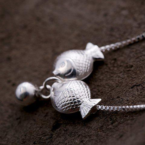 Kiss Fishes Pendant Necklace - SILVER