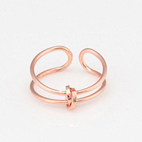 Knot Layered Cuff Ring - ROSE GOLD ONE-SIZE