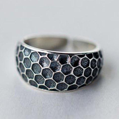 Delicate Concave Opening Wide Ring For Women - BLACK