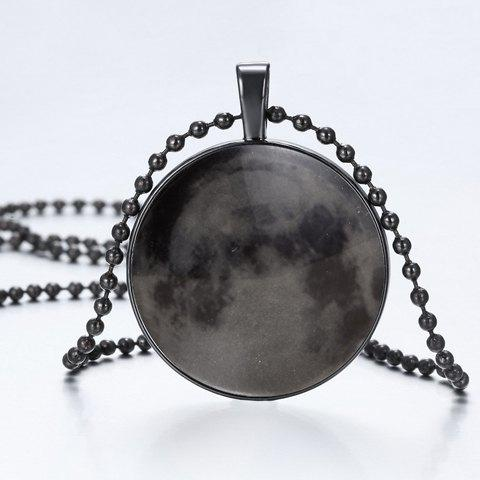 Chic Sky Pattern Beads Necklace For Men - BLACK