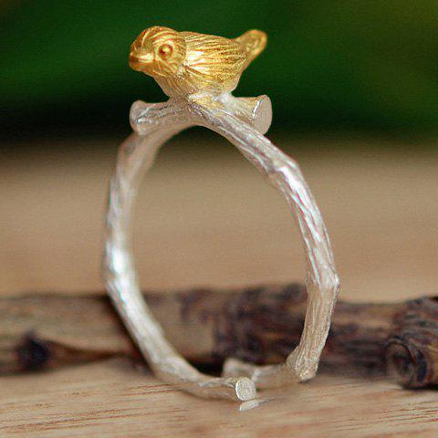 Delicate Carving Magpie Opening Ring For Women