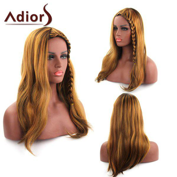 Stunning Heat Resistant Fiber Straight Small Long Braid Blonde Adiors Wig For Women - GOLDEN