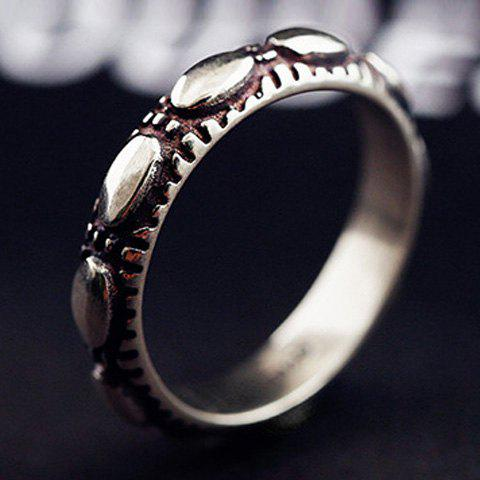 Delicate Carving Oval Ring For Women