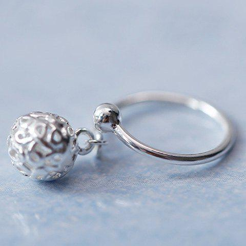 Ball Hollow Out Opening Ring - SILVER