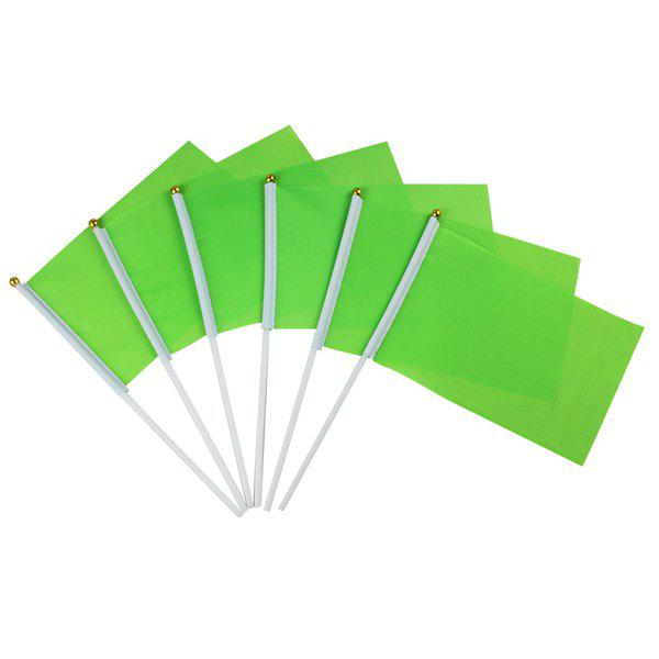 Hot Sale Kindergarten Exercises Activities Sports Meet Props Green Small Flag