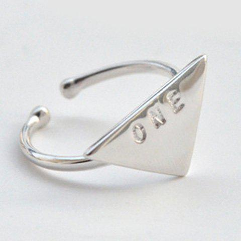 Triangle Letters Opening Ring