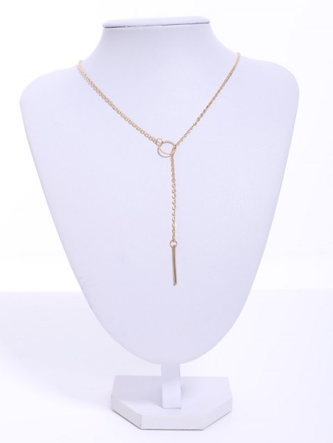 Alloy Circle Bar Pendant Necklace - AS THE PICTURE