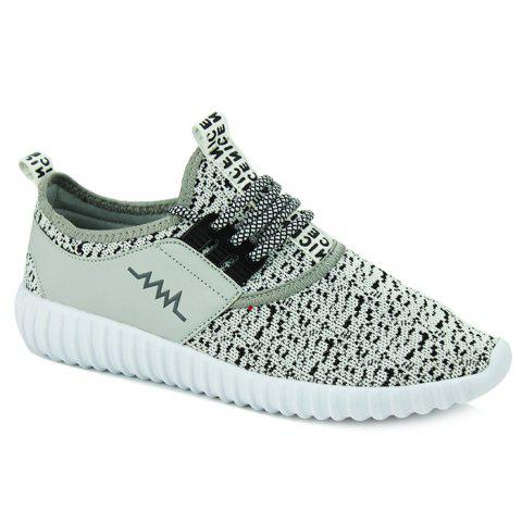 Sports Style Letter and Splicing Design Men's Casual Shoes - GRAY 42