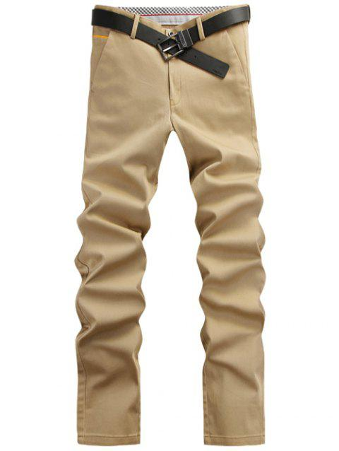 Fashion Solid Color Pants For Men - KHAKI 28