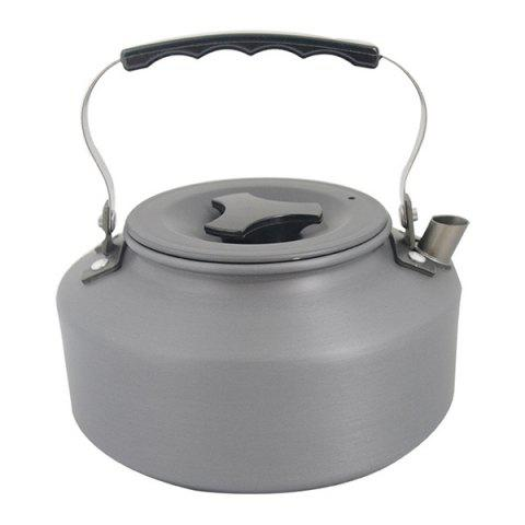 High Quality 1.1L Portable Outdoor Camping Picnic Cookware Coffee Tea Kettle - BLACK GREY