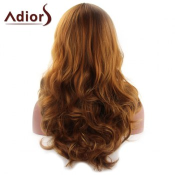 Shaggy Wave Middle Part Capless Charming Brwon Long Synthetic Wig For Women - BROWN