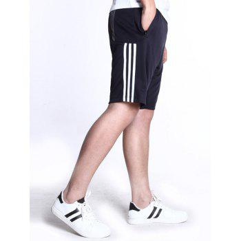 Men's Casual Lace Up Stripe Sports Shorts