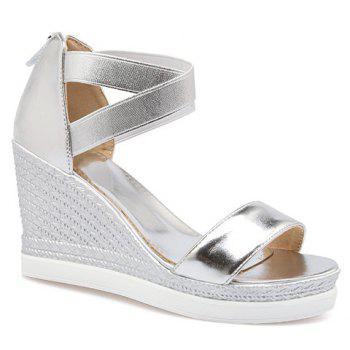 Stylish Zipper and Cross Straps Design Women's Sandals