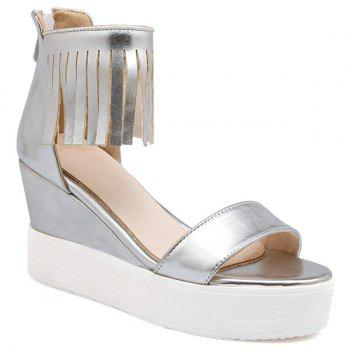 Fashion Fringe and Zip Design Women's Sandals