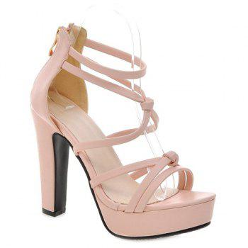 Fashionable Platform and Zip Design Women's Sandals