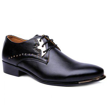 Trendy Rivet and Lace-Up Design Men's Formal Shoes