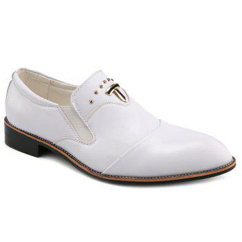 Stylish Rivet and  Solid Color Design Men's Formal Shoes