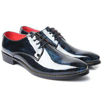 Formal Shoes Élégant Color Block and Lace-Up Design Men  's - Bleu 40
