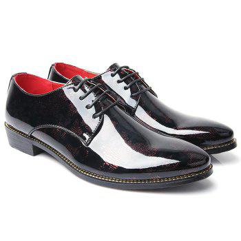 Formal Shoes Élégant Color Block and Lace-Up Design Men  's - Rouge 43