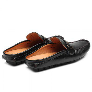 Casual Stitching and Black Design Men's Loafers - BLACK 41