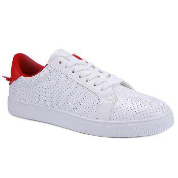 Sports Style White and Lace-Up Design Men's Casual Shoes