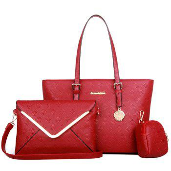 Graceful Solid Color and Embossing Design Women's Tote Bag