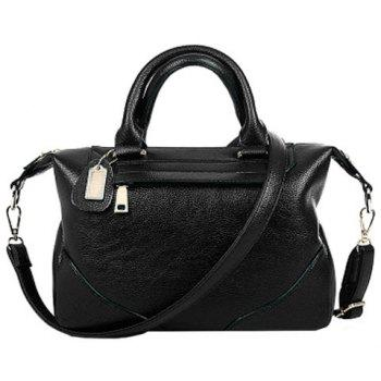 Elegant Solid Color and Stitching Design Women's Tote Bag