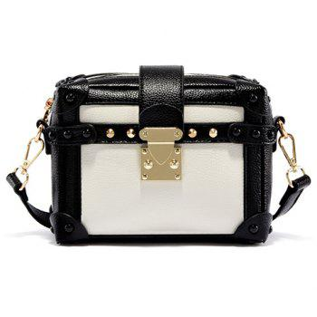 Retro Color Block and Hasp Design Women's Crossbody Bag