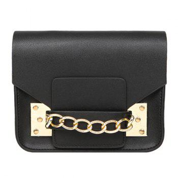 Leisure Solid Color and Metal Design Women's Crossbody Bag