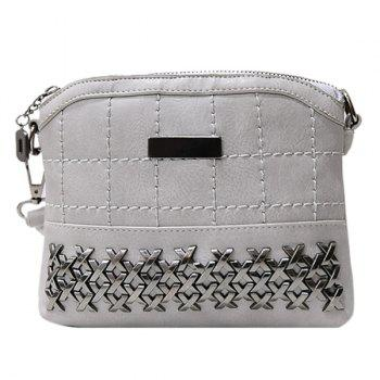 Simple Metal and Chain Design Women's Crossbody Bag