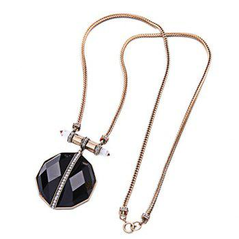 Artificial Gem Rhinestone Necklace - GOLDEN GOLDEN