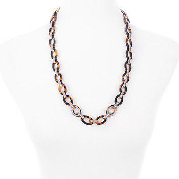 Alloy Multilayered Chains Necklace - YELLOW
