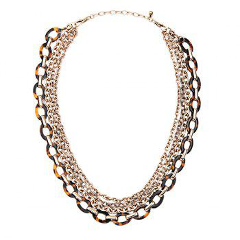 Alloy Multilayered Chains Necklace