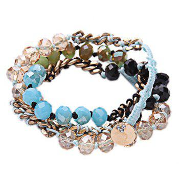 Layered Faux Crystal Bracelet