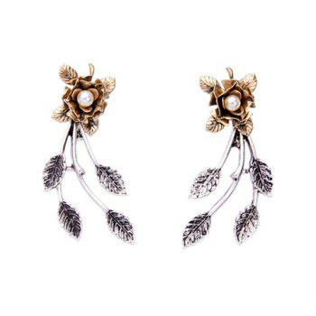 Detachable Faux Pearl Leaf Flower Earring Jackets