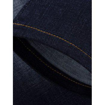 Fashion Zip Fly Straight Legs Cropped Jeans For Men - 28 28