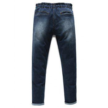 Men's Fashion Lace Up Straight Legs Cropped Jeans - 30 30