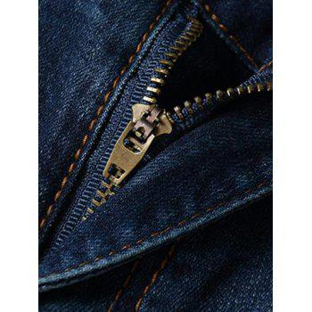 Men's Fashion Straight Legs Cropped Jeans - BLUE 31