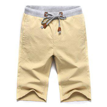 Casual Lace Up Solid Color Summer Shorts For Men