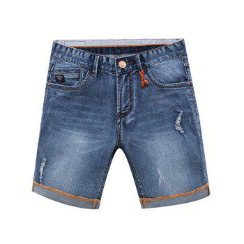 Men's Trendy Summer Zip Fly Denim Shorts