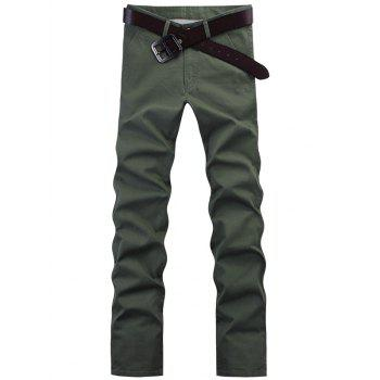 Fashion Straight Leg Solid Color Pants For Men