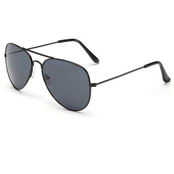 Cool Summer Simple Black Frame Men Aviator's Sunglasses